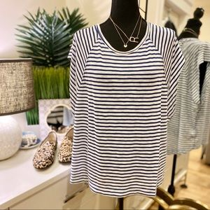 Free People Halo Striped Cap Sleeve Tee